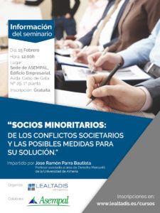 Flyer Seminario Socios Minoritarios