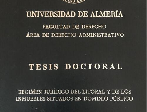 """Nuestro compañero del Departamento de Derecho Administrativo Federico Vivas Puig ha obtenido el Grado de Doctor en Derecho por la Universidad de Almería con la calificación de Sobresaliente """"Cum Laude."""""""